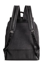 Cotton canvas backpack - Black - Men | H&M 2